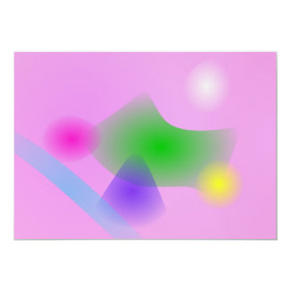 "Soft Music 5"" X 7"" Invitation Card"