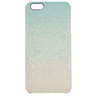 """""""SOFT-MUTED CARIBBEAN COLORS /SEA&SAND"""" CLEAR iPhone 6 PLUS CASE"""
