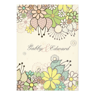 Soft Natural Love Garden Wedding Invitation Invite