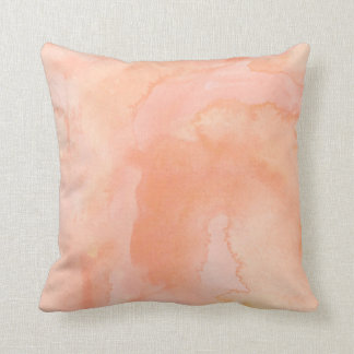 Soft Orange Peach Painted Watercolor Pillow Cushions