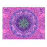 Soft Painted Journal Mandala Post Card