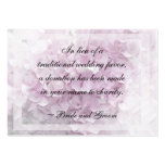 Soft Pale Pink Hydrangea Wedding Charity Card Pack Of Chubby Business Cards
