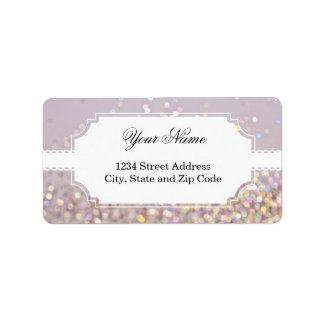 Soft Pastel Bokeh Sparkles Address Label