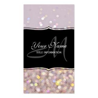 Soft Pastel Bokeh Sparkles Pack Of Standard Business Cards