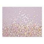 Soft Pastel Bokeh Sparkles Postcard
