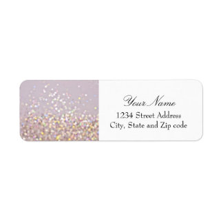 Soft Pastel Bokeh Sparkles Return Address Label
