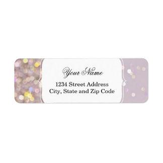 Soft Pastel Bokeh Sparkles Return Address Label