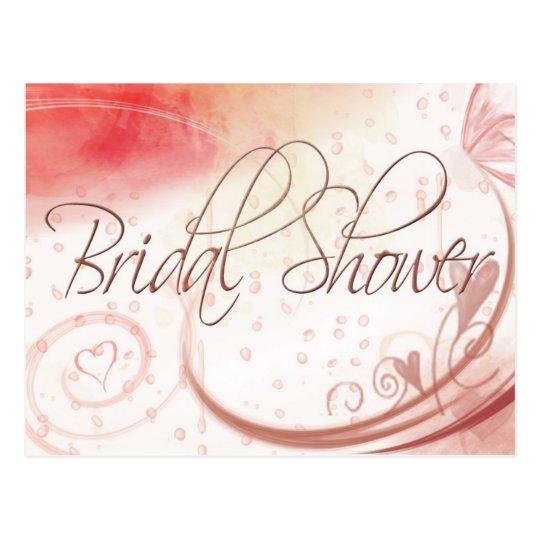 Soft pastel Bridal Shower postcard