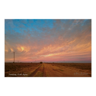 Soft Pastel Coloured Sky Clouds Format Poster