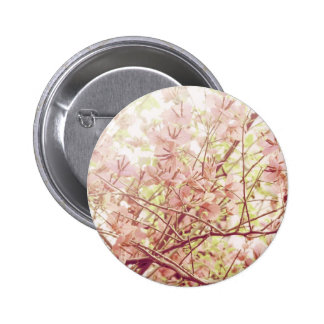 Soft Pastel Floral Branches 6 Cm Round Badge