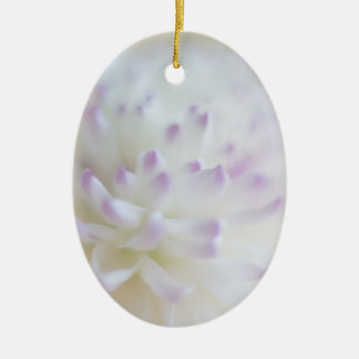 Soft Pastel Flower Photograph Christmas Ornaments