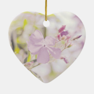 Soft Pastel Flower Photograph Christmas Tree Ornaments