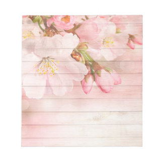 Soft pastel pink cherry blossoms notepad