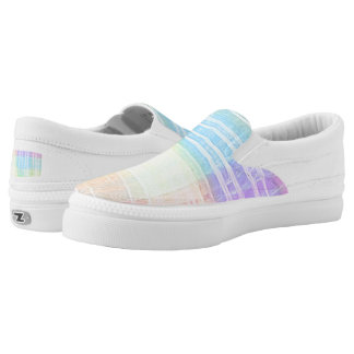 Soft Pastel Rainbow Colored Watercolor Wash Printed Shoes