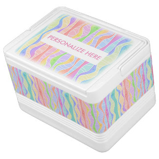 SOFT PASTEL STRIPES IGLOO COOLER