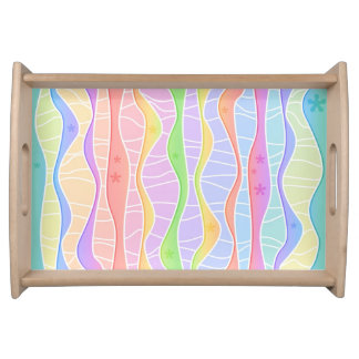 SOFT PASTEL STRIPES SERVING TRAY