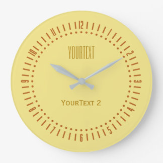 Soft Pastel Yellow Color to Personalize on a Clocks