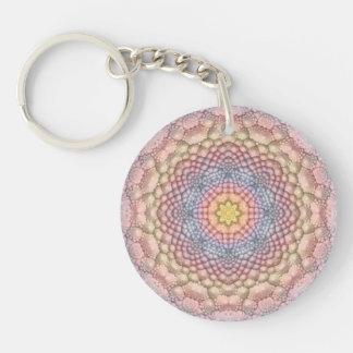 Soft Pastels Acrylic Keychains, 6 styles Double-Sided Round Acrylic Key Ring