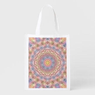 Soft Pastels Colorful Reusable Bags Market Totes