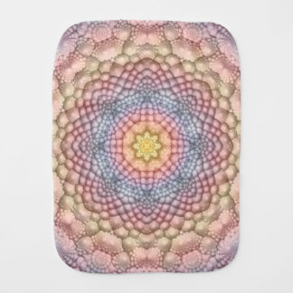 Soft Pastels Kaleidoscope Burp Cloth