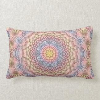 Soft Pastels Kaleidoscope Pattern Lumbar Pillows