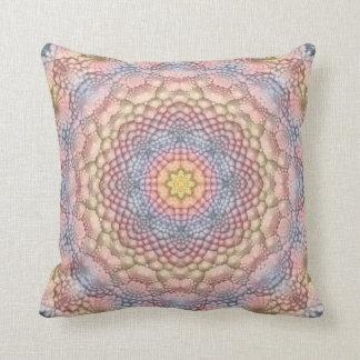 Soft Pastels Kaleidoscope Pattern Throw Pillows