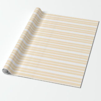 Soft Peach and White Stripes Wrapping Paper