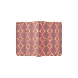 Soft Peach Dusty Rose Pattern Passport Holder