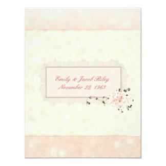 Soft Peach Wedding Vow Renewal 11 Cm X 14 Cm Invitation Card