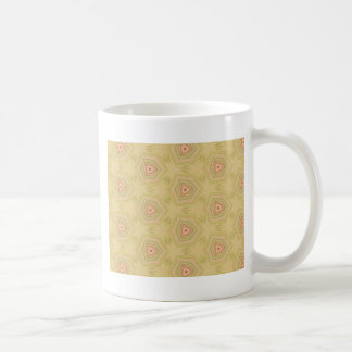 Soft Peach Yellow Modern Chic Fractal Pattern Basic White Mug