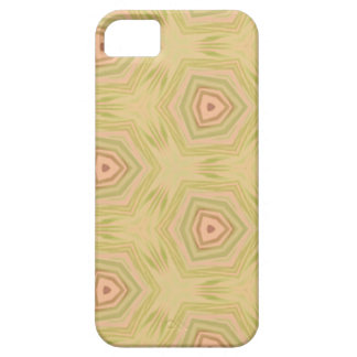 Soft Peach Yellow Modern Chic Fractal Pattern iPhone 5 Cover