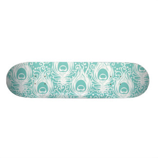 Soft peacock feathers 19.7 cm skateboard deck
