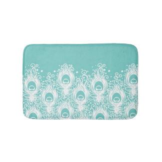 Soft peacock feathers bath mat