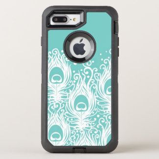 Soft peacock feathers OtterBox defender iPhone 8 plus/7 plus case
