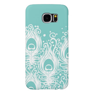 Soft peacock feathers samsung galaxy s6 cases
