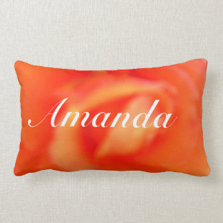 Soft Petal Background Name Pillow