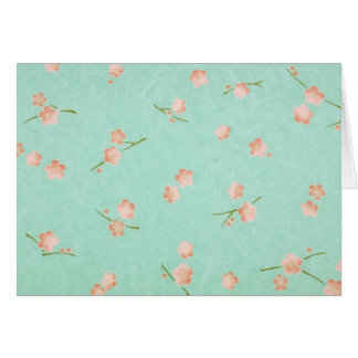 Soft Petals Peach & Aqua Card