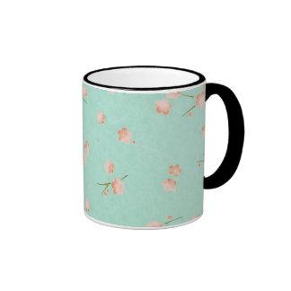 Soft Petals Peach & Aqua Mug