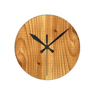 Soft Pine Classic Wood Grain Spruce Wall Clocks