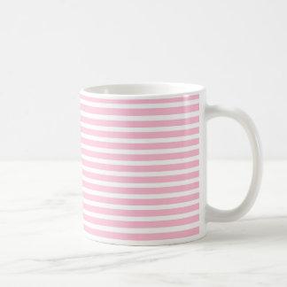 Soft Pink and White Stripes Mug
