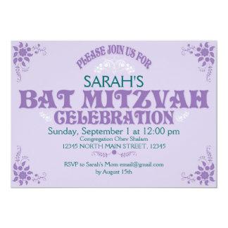 Soft Pink Bat Mitzvah Invitation