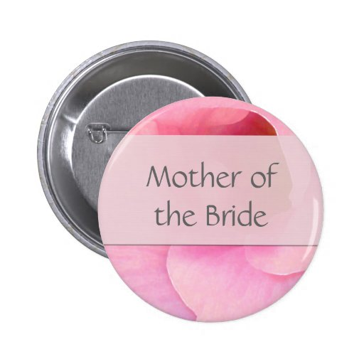 Soft pink Bride Button - Customized