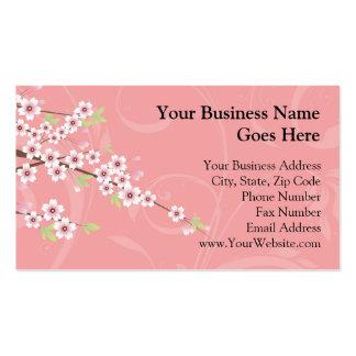 Soft Pink Cherry Blossom Business Card