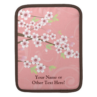 Soft Pink Cherry Blossom iPad Sleeve