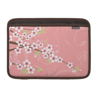 Soft Pink Cherry Blossom MacBook Sleeves