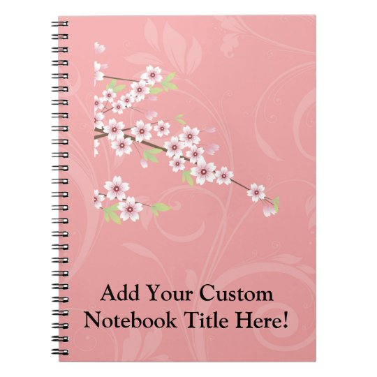 Soft Pink Cherry Blossom Notebook