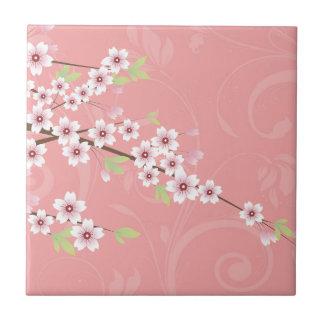 Soft Pink Cherry Blossom Tile