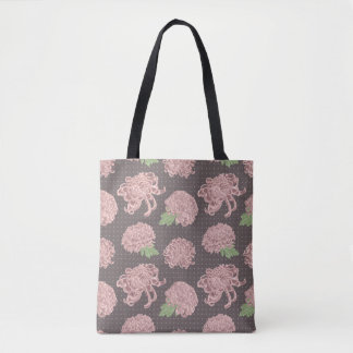 Soft Pink Chrysantemum Seamless Pattern Tote Bag