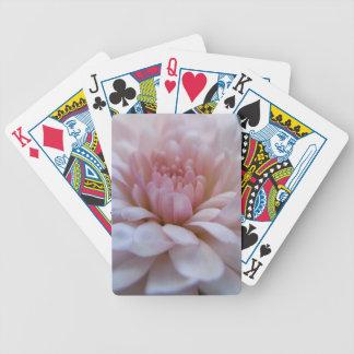 Soft Pink Chrysanthemum Bicycle Card Deck