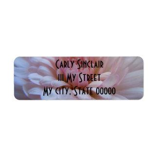 Soft Pink Chrysanthemum Return Address Label